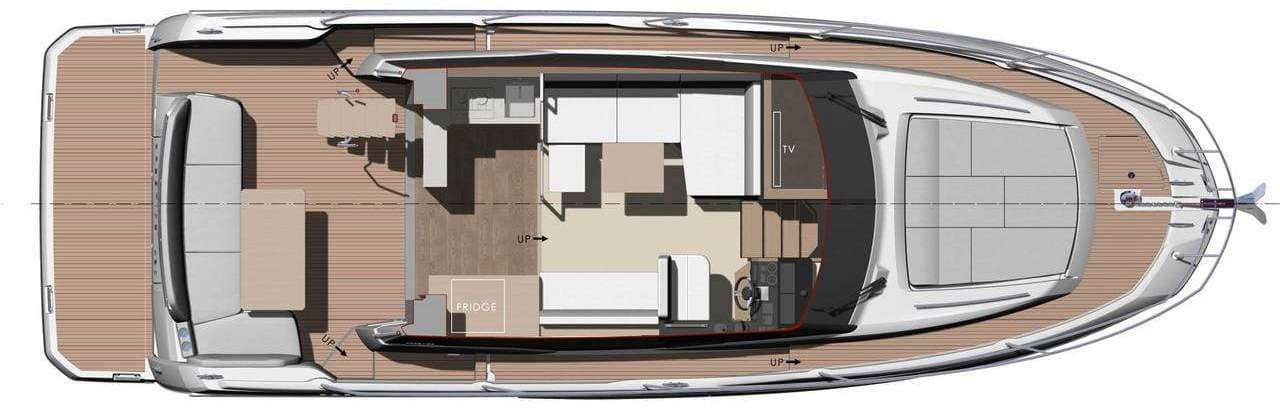 Prestige 420 Main Deck Layout
